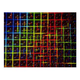 Grid texture postcard