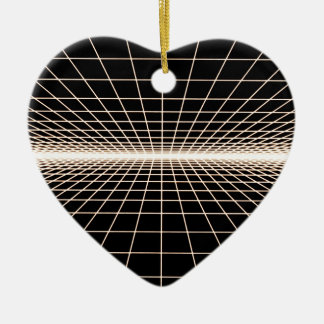 Grid To Eternity Ceramic Ornament