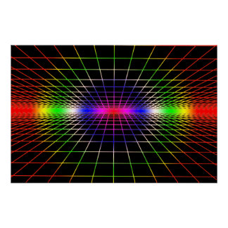 Grid To Eternity - Deep Color Grid Poster