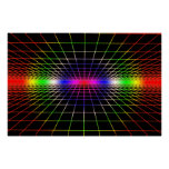 Grid To Eternity - Deep Color Grid Posters
