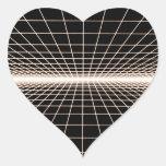 Grid To Eternity Heart Sticker