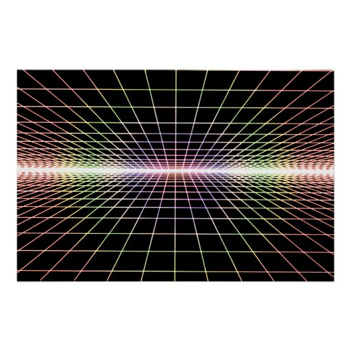 Grid To Eternity - Soft Color Grid Poster