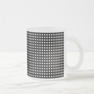 Grid ...You Choose the colors. 10 Oz Frosted Glass Coffee Mug