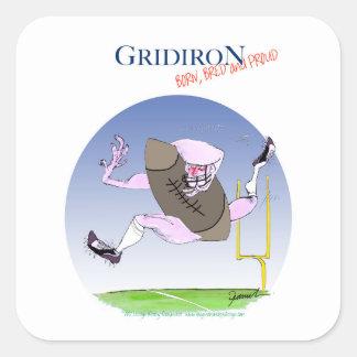 Gridiron - born bred proud, tony fernandes square sticker