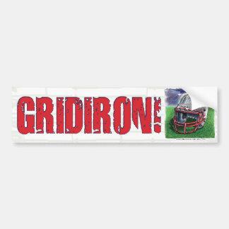 ¡GridIron! Bumpersticker Pegatina Para Auto