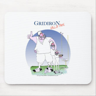 Gridiron - hall of fame, tony fernandes mouse pad