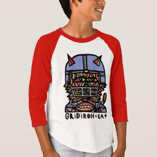 """GridIron Kat"" Boys' Long Sleeve Raglan T-Shirt"