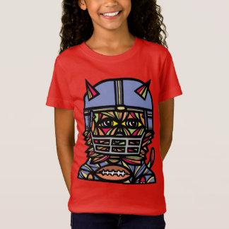 """GridIron Kat"" Girls' Fine Jersey T-Shirt"