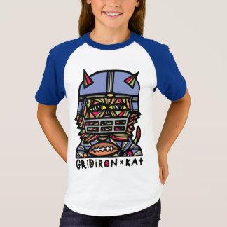 """GridIron Kat"" Girls' Short Sleeve Raglan T-Shirt"