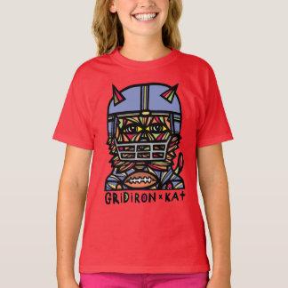 """GridIron Kat"" Girls' TAGLESS® T-Shirt"