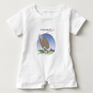 Gridiron - kicked in the grass, tony fernandes baby romper