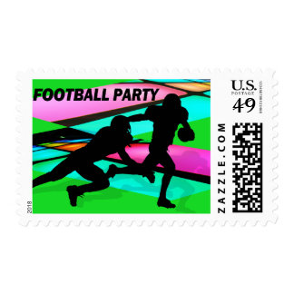 Gridiron Lights Football Party Stamp