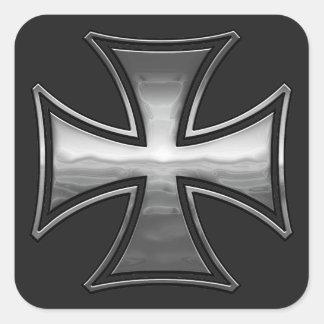 Gridiron maltés pegatina cuadradas personalizadas