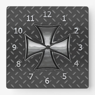 Gridiron Maltese Wall Clock