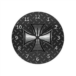 Gridiron Maltese Round Clock