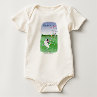 Gridiron  stay focused, tony fernandes baby bodysuit