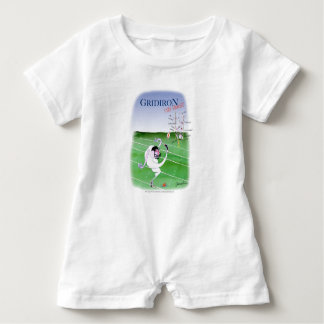 Gridiron  stay focused, tony fernandes baby romper