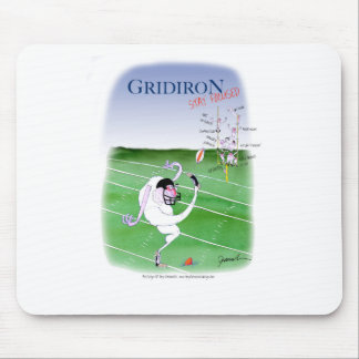 Gridiron - stay focused, tony fernandes mouse pad
