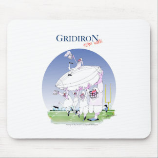 Gridiron - team work, tony fernandes mouse pad