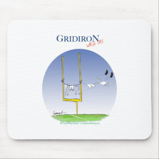 Gridiron - wash day, tony fernandes mouse pad