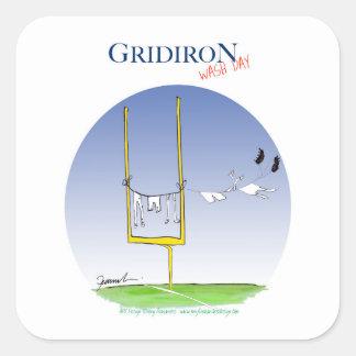 Gridiron wash day, tony fernandes square sticker