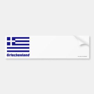Griechenland Flagge mit Namen Car Bumper Sticker