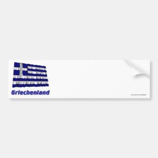 Griechenland Fliegende Flagge mit Namen Car Bumper Sticker