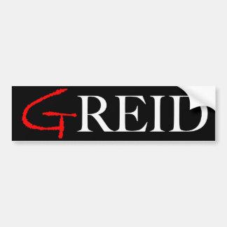 GRied-An Anti-Reid Bumper Sticker in Black Bumper Sticker