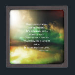 "GRIEF never ends Gift Box<br><div class=""desc"">A beautiful quote: &quot;Grief never ends... But it changes. It&#39;s a passage, not a place to stay. Grief is not a sign of weakness, nor a lack of faith... . It is the price of love.&quot; The background is a photograph by the designer with beautiful and soothing colors of the...</div>"