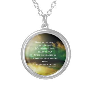 GRIEF never ends Personalized Necklace