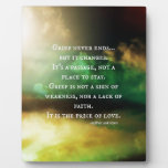 GRIEF never ends Plaques