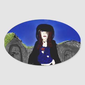 Grief Oval Sticker