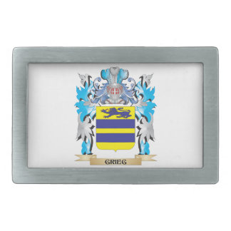 Grieg Coat of Arms - Family Crest Rectangular Belt Buckles