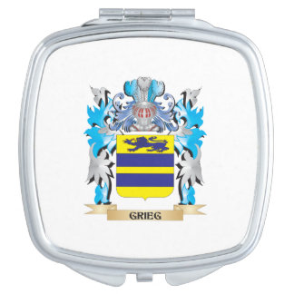 Grieg Coat of Arms - Family Crest Travel Mirror
