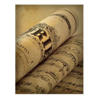 Grieg Piano Concerto Postcard