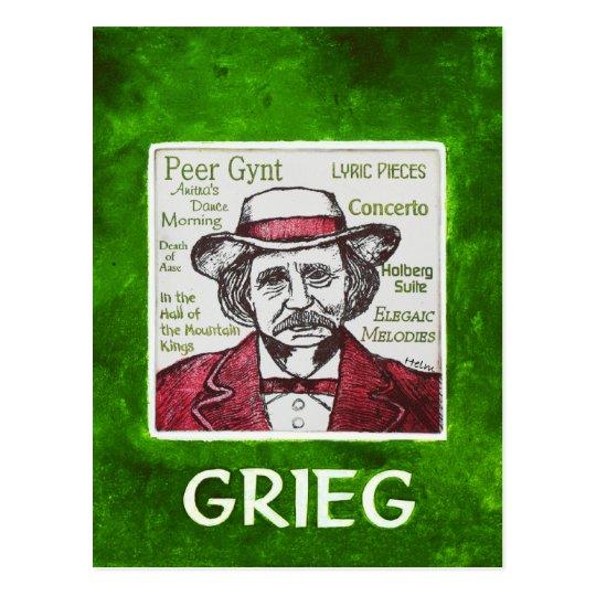 Grieg Postcard