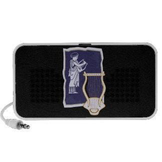 Griego del Lyre con la figura diseño de la arpa de iPod Altavoces