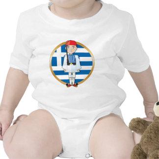 Griego Evzone con la bandera Trajes De Bebé