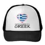Griego feliz casado gorras de camionero