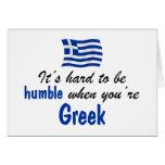 Griego humilde tarjetas