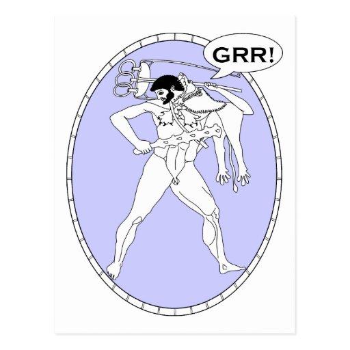 Griego machista de Grr Postales