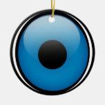 Griego Ojo de la protección de mal de ojo Adorno Navideño Redondo De Cerámica