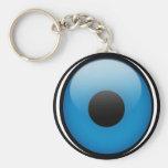 Griego Ojo de la protección de mal de ojo Llavero Redondo Tipo Pin