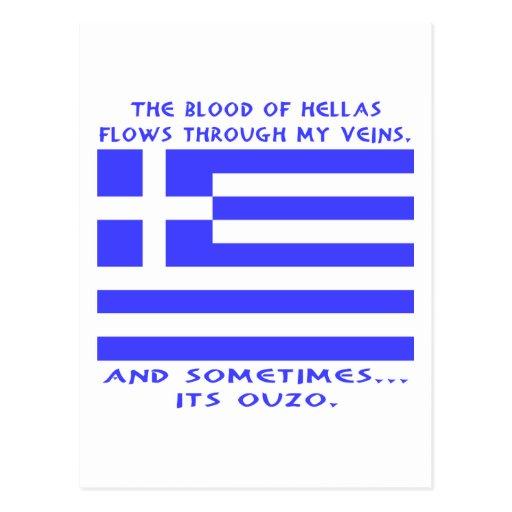 Griego Ouzo Tarjetas Postales