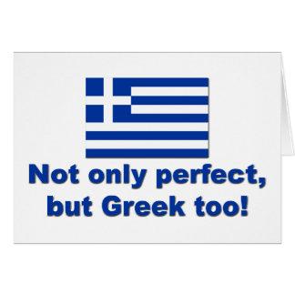 Griego perfecto felicitaciones
