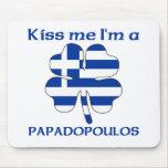 Griegos personalizada me besan que soy Papadopoulo Alfombrillas De Ratón