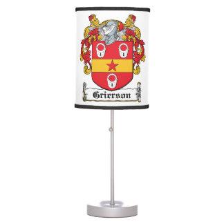 Grierson Family Crest Lamps