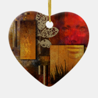 Grieta Adorno Navideño De Cerámica En Forma De Corazón