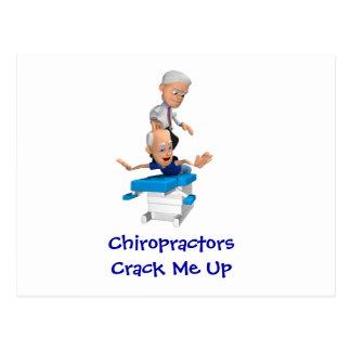 Grieta de los Chiropractors yo encima de las posta Tarjeta Postal