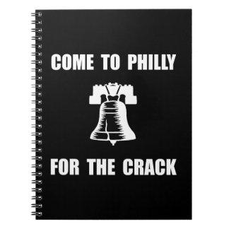 Grieta de Philly Libreta Espiral